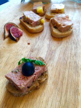 Terrine de foie gras de canard from restaurant La Bergerie de Plan Praz in Chamonix