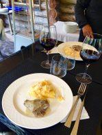 Joue de veau confite et polenta crémeuse au parmesean, from Restaurant La Cabane des Praz