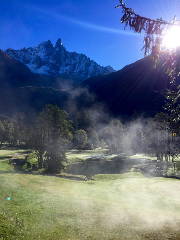 Frost Evaporating on Chamonix Golf Course