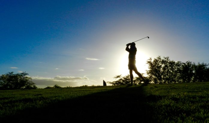 Phil Tees Off Blues at Maui Nui
