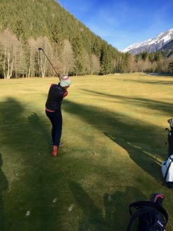 The Sub Par Golfer Hitting Low Chip to Green