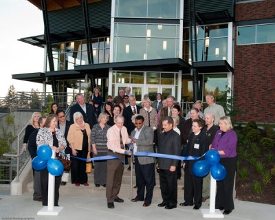 The Lakewood Chamber of Commerce sponsored a Blue Ribbon Cutting Ceremony at the Performing Arts Center at Charles Wright Acacemy. Photo courtesy of David Lobban, Lobban Photography.
