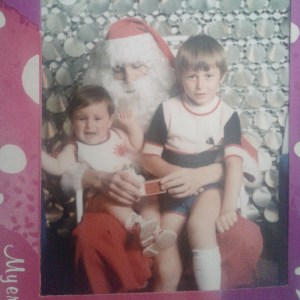 I clearly loved Santa from a young age