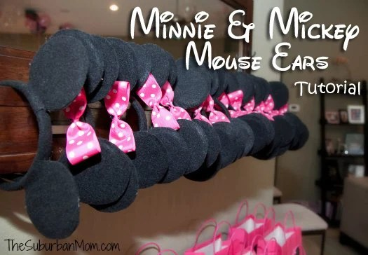 Minnie Mickey Mouse Ears Tutorial DIY Party
