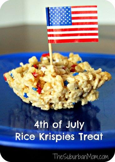 4th of July Rice Krispies Treat
