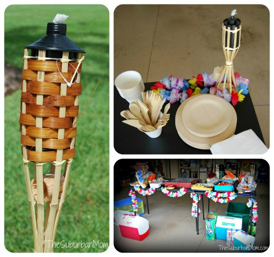 Celebrating Summer With A TIKI TORCH LUAU Water Party