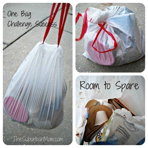 Glad One Bag Challenge Success