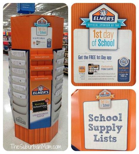 1sy Day of School App Walmart Elmers