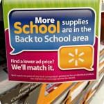 Back to School Walmart Price Match