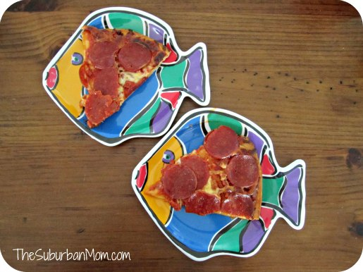 Tombstone Pizza on Fishy Plates