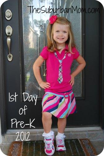 1st day of school pre-k