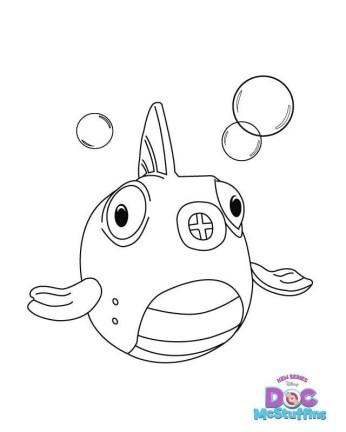 Doc McStuffins Coloring Page Fish Squeakers