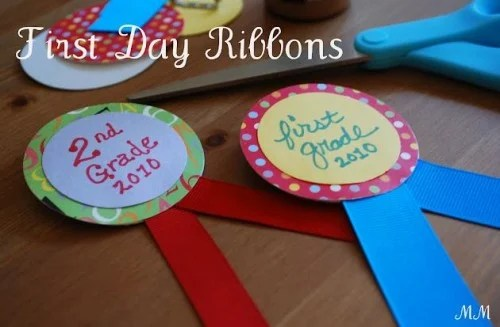 First Day of School Photo Idea Ribbons