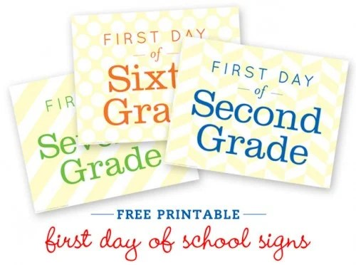 Free First Day of School Sign Printable