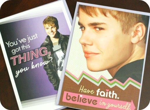 Hallmark Justin Bieber