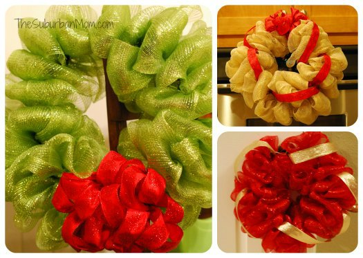 Deco Mesh Wreath Christmas