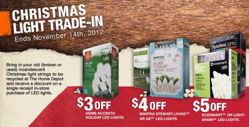 0 - Trade-In Your Old Christmas Lights For LED Lights At Home Depot