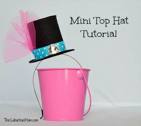 Mini Top Hat Tutorial Alice in Wonderland Mad Hatter Tea Party