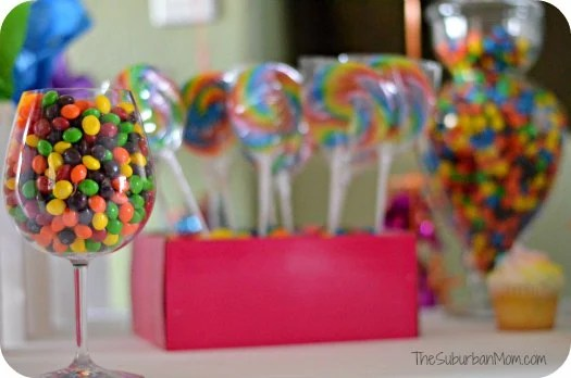 Rainbow Birthday Party Candy Decorations Favors