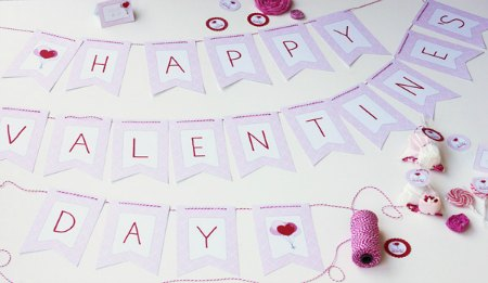 Valentine's Day Free Printable Banner
