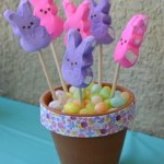 DIY Easter Peeps & Jelly Beans Flower Pot Centerpiece Craft