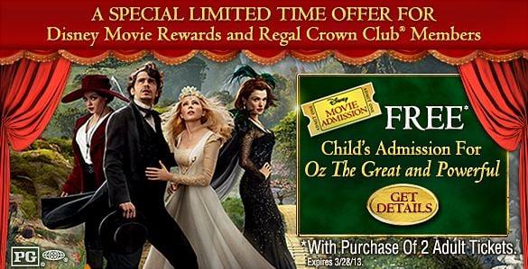 Free Movie Ticket Disney Oz