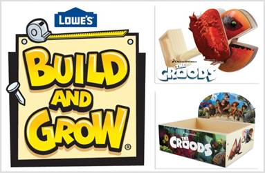 Lowe's Build & Grow Free The Croods Projects