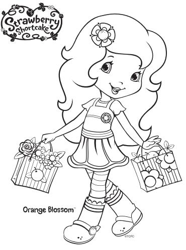 Strawberry Shortcake Orange Blossom Coloring Page
