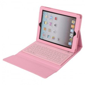 iPad 2 3 4 Case Pink iShopNation External Battery Bluetooth Leather Keyboard Cases