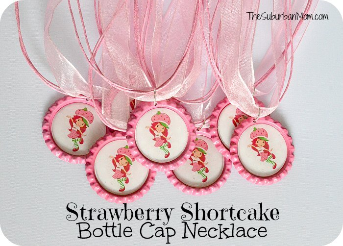 Strawberry Shortcake Bottle Cap Necklace