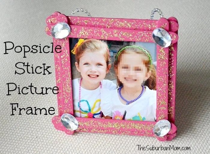 Popsicle Stick Picture Frame Kids Craft The Suburban Mom