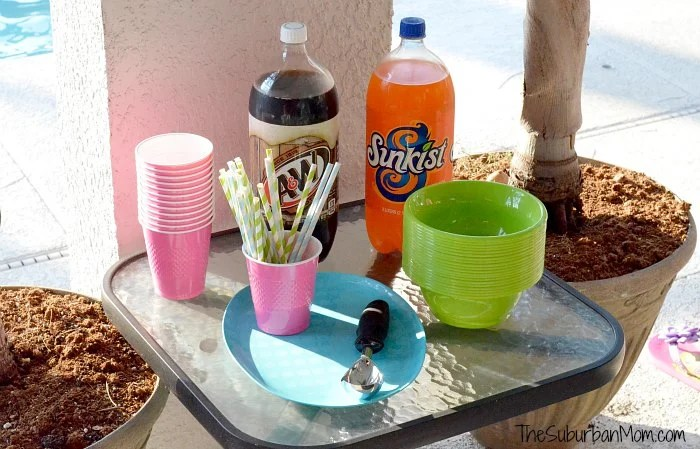 A&W Sunkist Ice Cream Float Station