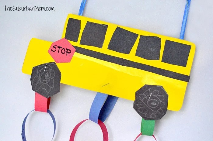 Back To School: School Bus Countdown Kids Craft
