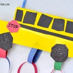 Back To School: School Bus Countdown Kids Craft