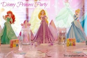 Disney Princess Party Ariel Rapunzel Cinderella Decorations