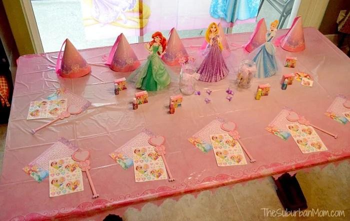 Disney Princess Party Table Decorations