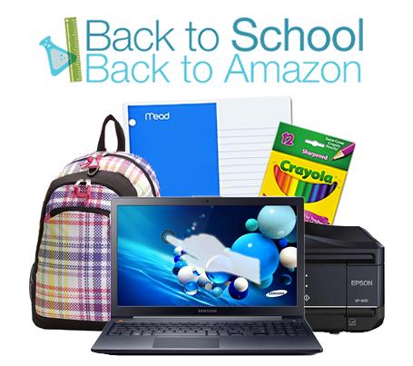 Back to School Amazon promo