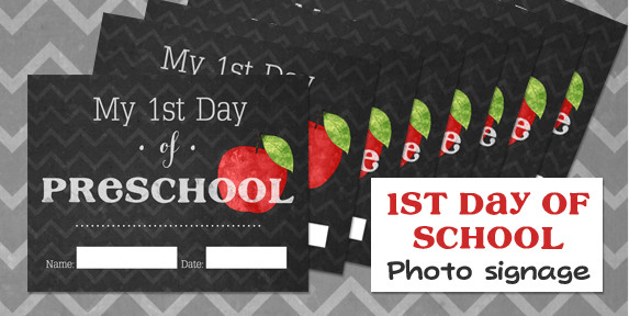 20 Back To School Free Printables First Day Of School Signs Lunch