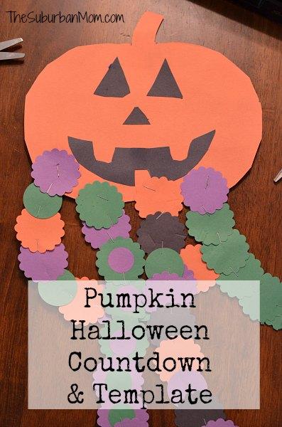Pumpkin Halloween Countdown Template Craft