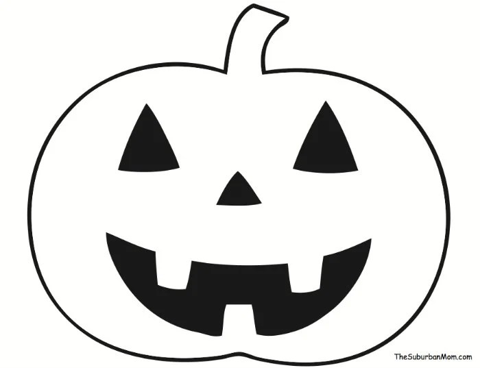 Pumpkin Outline Template Halloween
