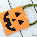 Pumpkin Popsicle Srick Halloween Craft