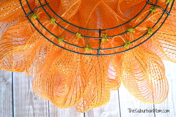 Back of Deco Mesh Wreath Tutorial