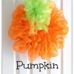 Halloween Pumpkin Wreath Tutorial
