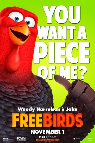 Free Birds Poster Woody Harrelson
