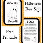 """Halloween """"Boo"""" Sign Free Printable And Ideas"""