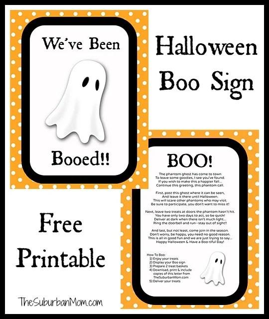 Halloween Boo Sign Free Printable