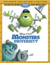 Monsters University Blu-Ray DVD 3D