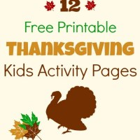 12 Free Printable Thanksgiving Kids Activity Placemats And Pages