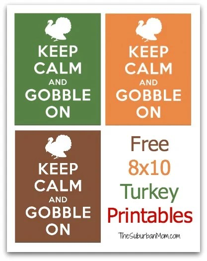 graphic about Closed for Thanksgiving Sign Printable called 30 No cost Thanksgiving Printables - TheSuburbanMom