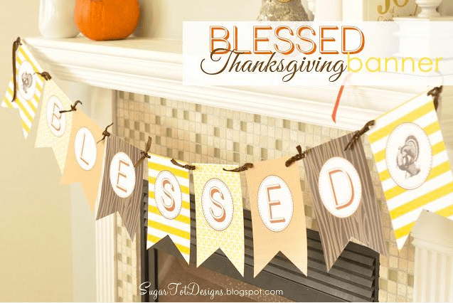 photograph about Printable Thanksgiving Banners named 30 Free of charge Thanksgiving Printables - TheSuburbanMom